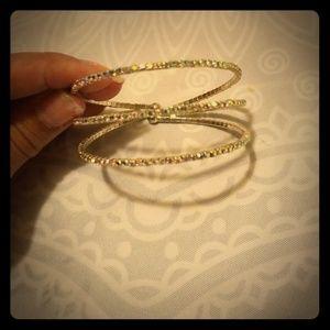 3 strand very sparkley bracelet